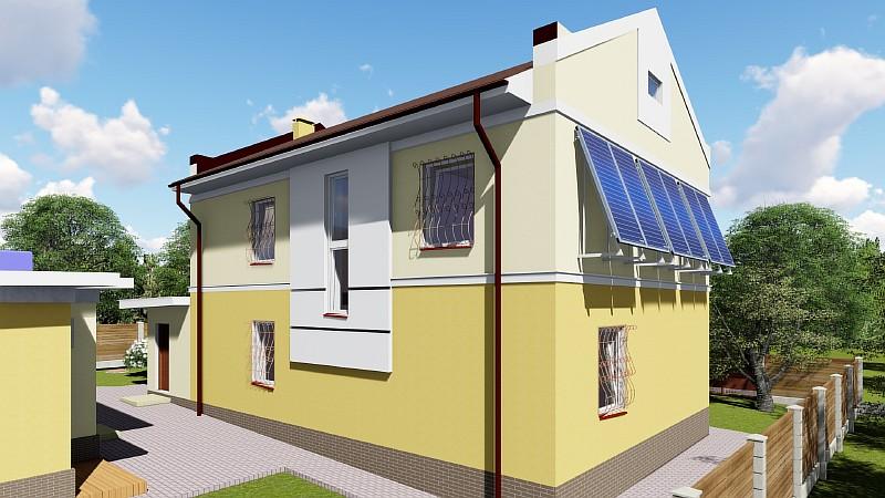 """Двухэтажный жилой дом """"Успешный"""" - визуализация проекта"""