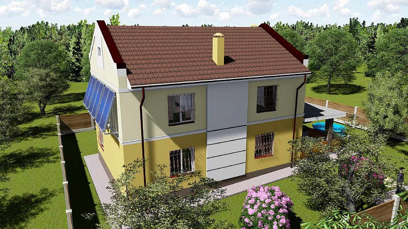 """Двухэтажный жилой дом """"Успешный"""" - проект"""