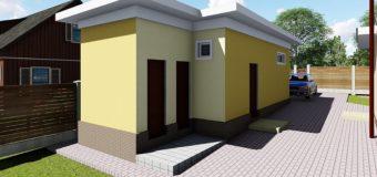Проект хозблока «Подворье»: душ с туалетом, склад с погребом и склад для топлива