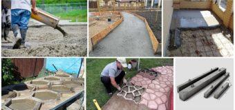 Как использовать остатки бетона?