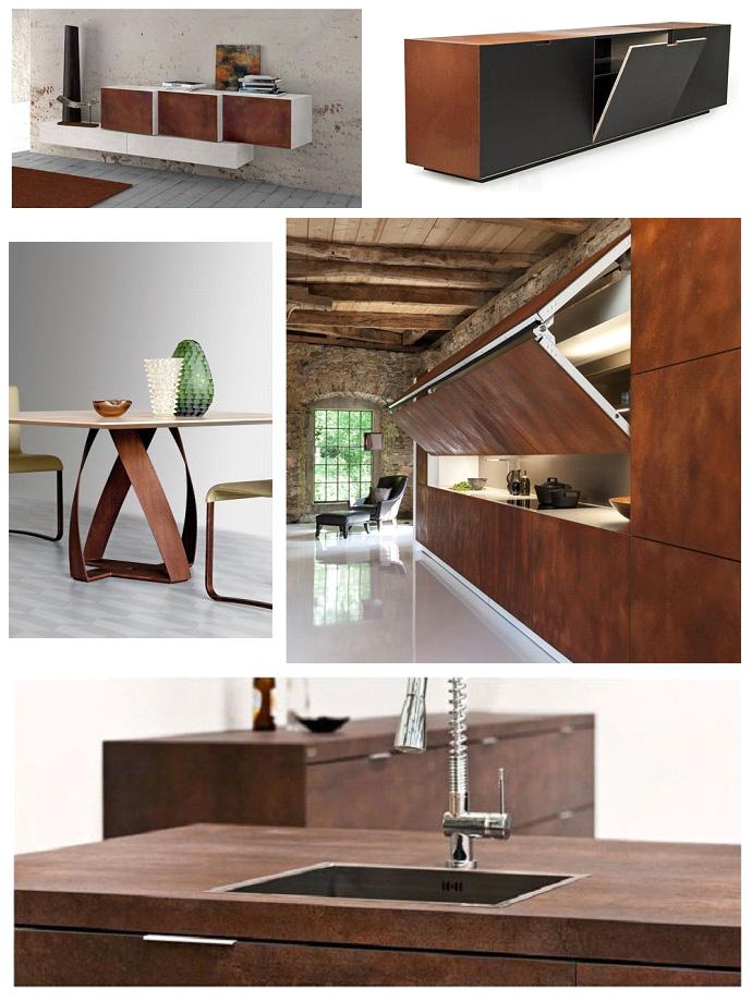 Мебель из кортен-стали