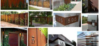 «Ржавые» дома. Отделка домов кортеновой сталью
