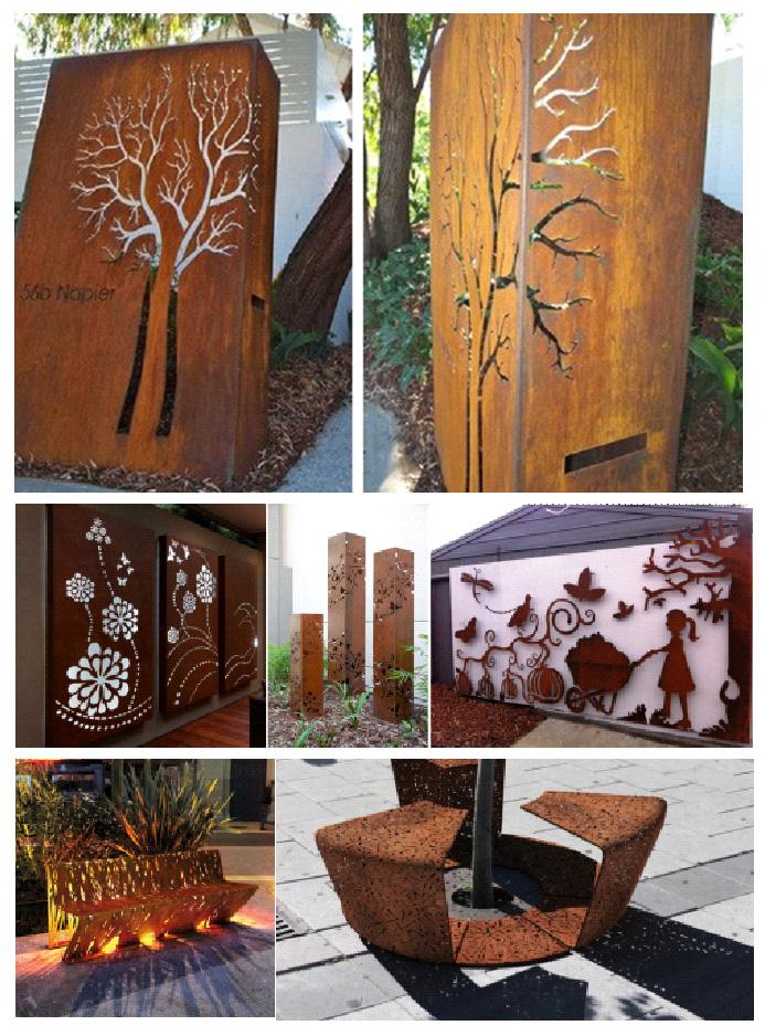 Декоративные элементы из кортен-стали