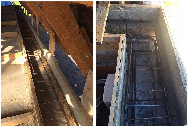 Установлены опалубка и армирование монолитного пояса по верху междуэтажного перекрытия