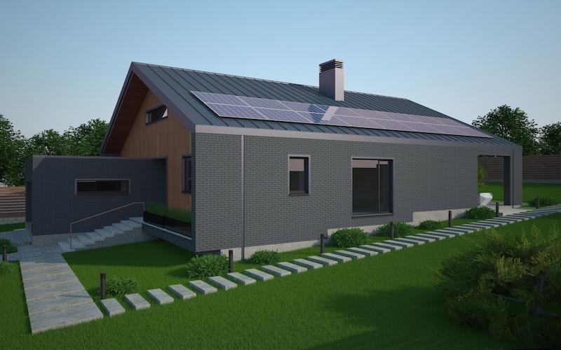 Типовой проект «Long slope» - дом на склоне