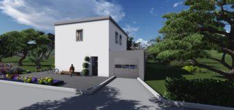 Проект двухэтажного жилого дома «Эконом»