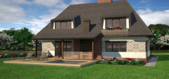 Проект двухэтажного жилого дома «Хатыночка»