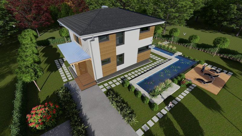 """Проект двухэтажного загородного дома """"Аллан-1"""""""