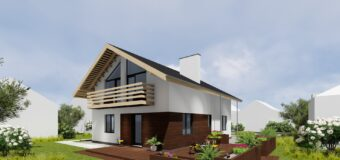 Проект двухэтажного дома с шестью жилыми комнатами «Шале»